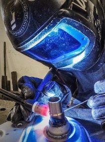 TIG welding shield